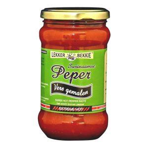 Mantrafood Lekker Bekkie Surinaamse Peper Vers Gemalen 290ml