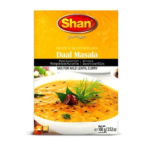 Shan Daal Masala has the perfect blend of herbs that help you prepare rich, spicy and creamy lentil curry for a light and healthy meal.